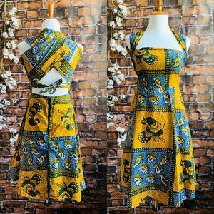 Vintage African Wax Print Dress